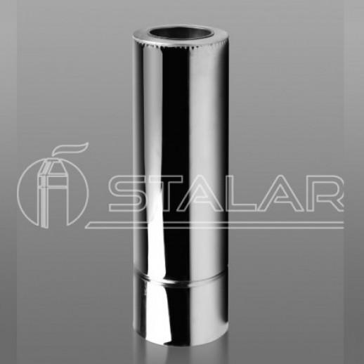 Дымоходная труба 1м утепленная 120х180 нерж/оц 0,5 мм Тернополь