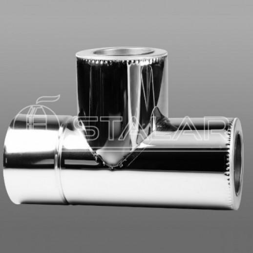 Тройник 90 \TERMO 150x220 нерж/нерж 0,5 мм AISI 201 Тернополь