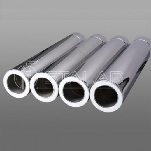 Дымоход для котла труба 180x250 нерж/нерж 0,5 мм Тернополь