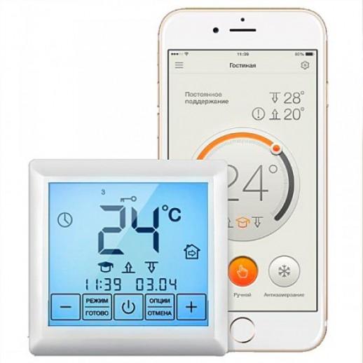 Терморегулятор Premium для теплого пола сенсорный с Wi-Fi модулем Тернополь